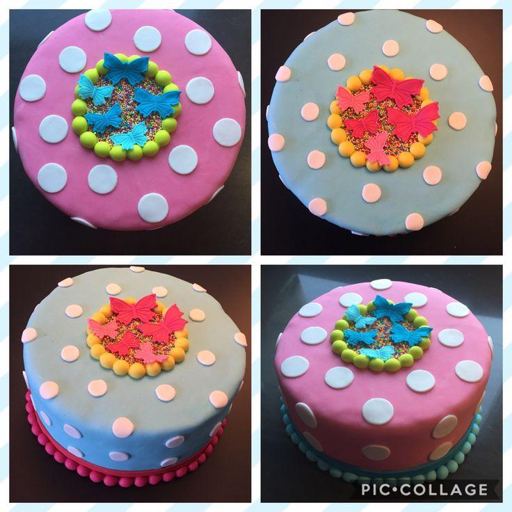 Vlinder en stippen taart