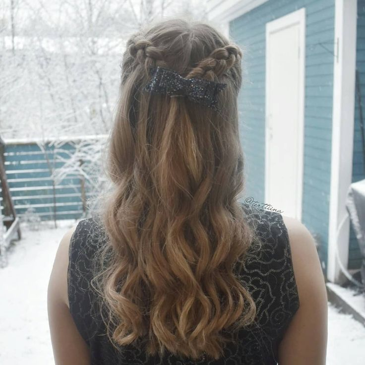 Braids & Hair by @terttiina Instagram: Simple half updo with two dutch braids and some curls