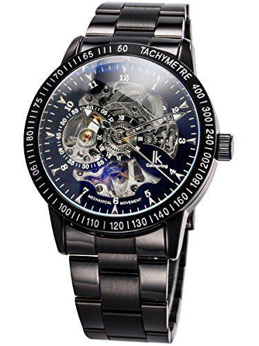 Alienwork IK mechanische Automatik Armbanduhr Skelett Automatikuhr Uhr schwarz Edelstahl 98226-08 - http://on-line-kaufen.de/alienwork/alienwork-ik-mechanische-automatik-armbanduhr-7
