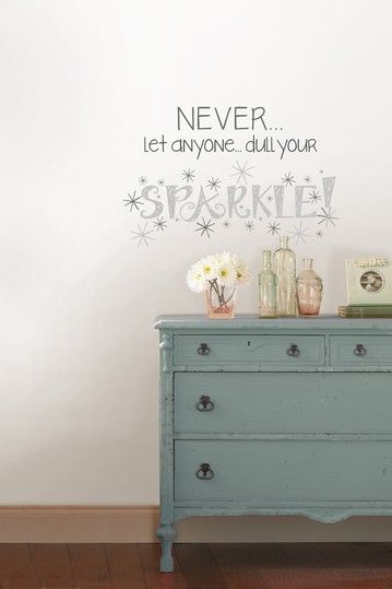 Jonathan Adler Dull Your Sparkle Wall Quote by Jonathan Adler Wall Decals and More on @HauteLook