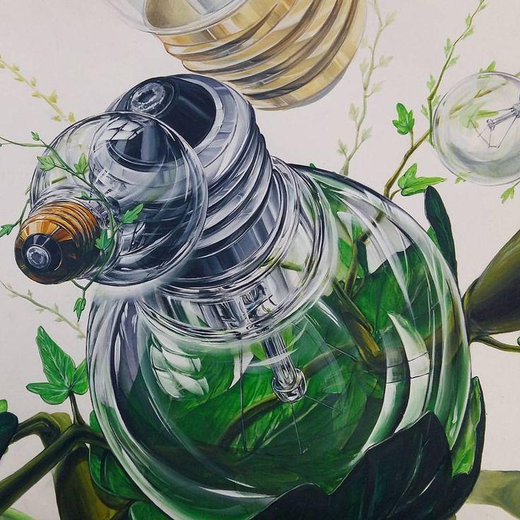 전구(투명체•스틸) & 나뭇잎