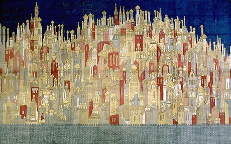 Goncharova's astonishing backdrop for 'The Firebird'   Would love this as a textile