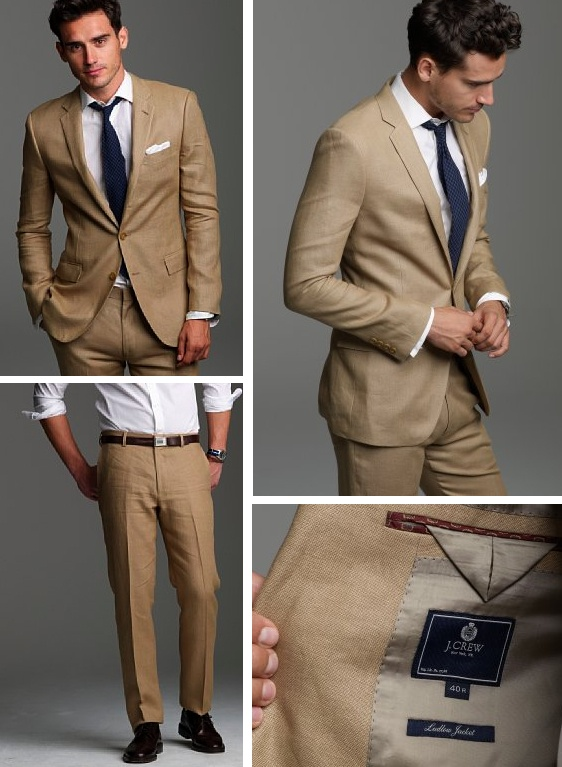 Fawn rustic wedding suit