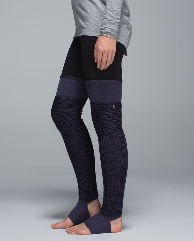 From the dance studio to the yoga studio to the street, these thigh-high leg warmers make us feel Fame-ous. We made them with sweat-wicking Merino Wool for warm-ups in chilly studios and an articulated knee that bends with our plies, pirouettes and pigeon poses. (Cue theme song...)