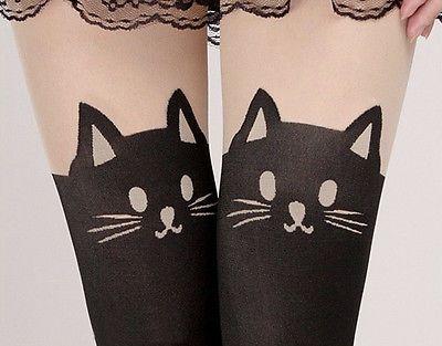 collant fille chat | Détails sur Femme Fille Legging Chat Collant Moulant Bas Jambières ...