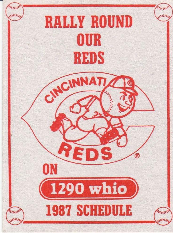 1987 Cincinnati Reds Schedule--WHIO/St Elizabeth Sports Medicine Center #PocketSchedule
