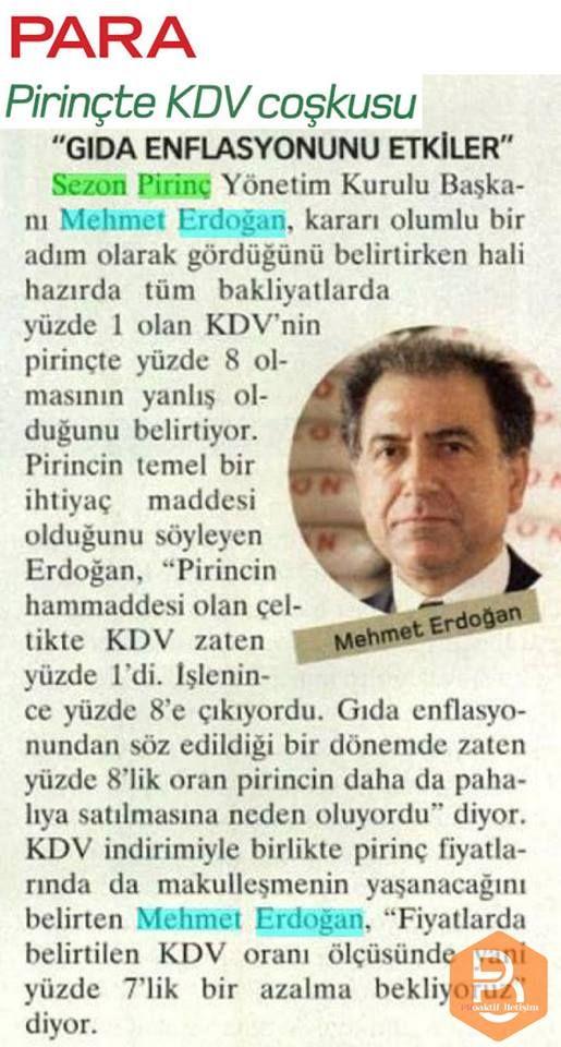 Yönetim Kurulu Başkanımız Mehmet Erdoğan Para Dergisi'nde...
