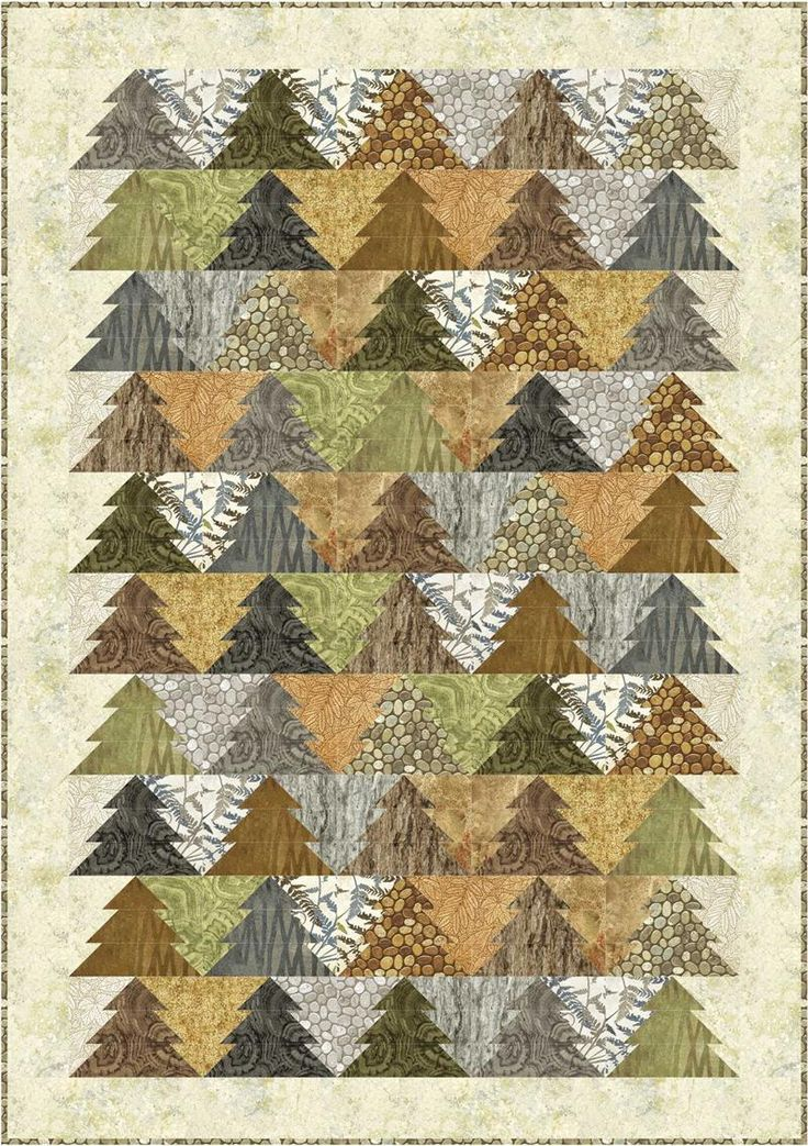 Tessellating trees: Woodland Trees Quilt Pattern by Patti Carey