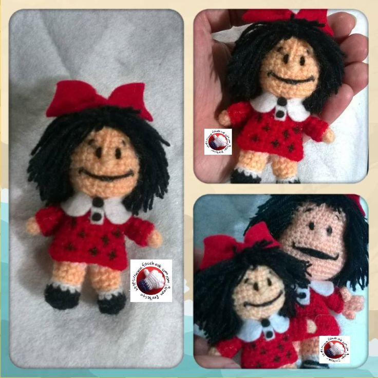 Mini Mafalda de Proyecto Amigurumi https://www.facebook.com/amigurumiproyecto/