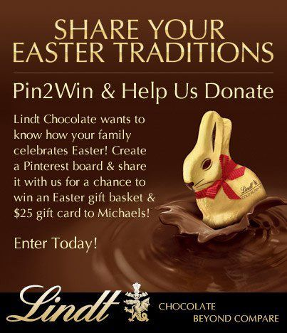 2353 best happy easter pinterest images on pinterest happy lindt chocolate usa easter traditions sweepstakes ends negle Image collections