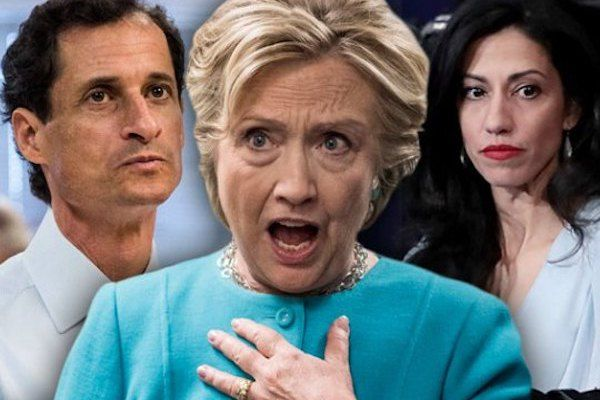 Hillary Clinton Close To Jail Time - Huma Abedin's E-Mails Are Enough - http://reachmorenow.com/hillary-clinton-in-deep-trouble-with-the-law-huma-abedins-e-mails-are-enough/ - http://reachmorenow.com/wp-content/uploads/2018/01/hillary-clinton-emails-hacked-anthony-weiner-huma-abedin.jpg