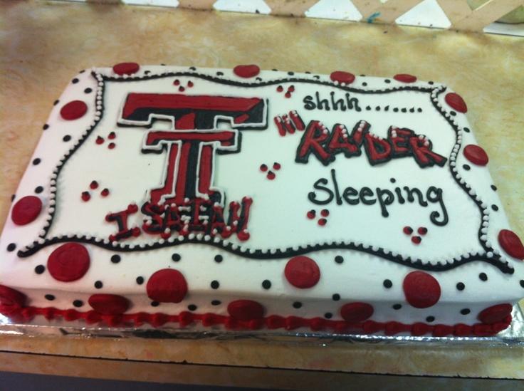 Texas tech baby shower cake