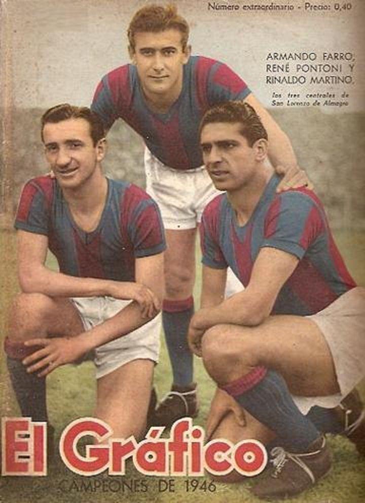 """Portada del """"El Grafico"""" Numero extraordinario de San Lorenzo CAMPEÓN 1946."""