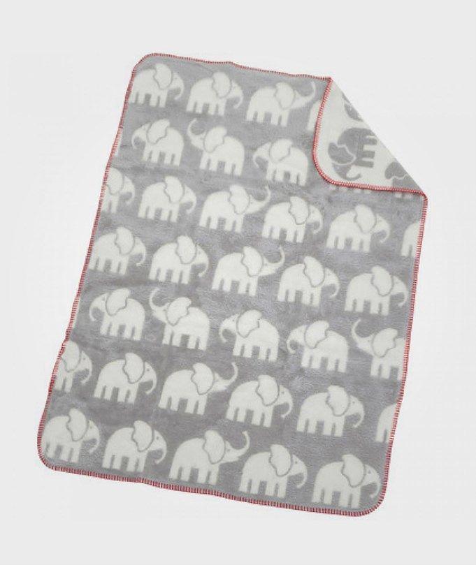 Filt Elefant Grå/Vit