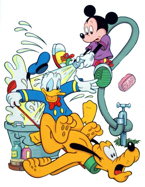 Website With Photo Gallery Mickey u Donald Give Pluto Bath