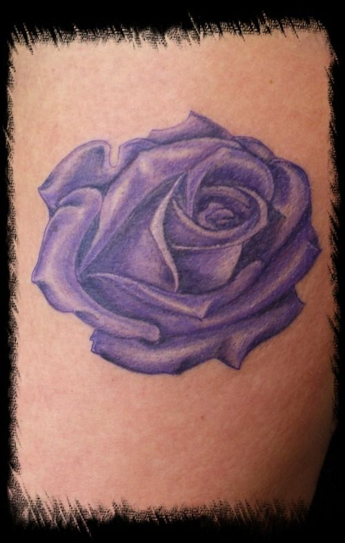 purple tattoo | purple rose – Tattoo Picture at CheckoutMyInk.com