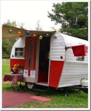 Camper at Tin Can Tourist Rally - Finger Lakes - 2013