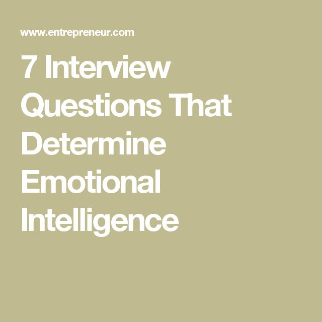 7 Interview Questions That Determine Emotional Intelligence Career