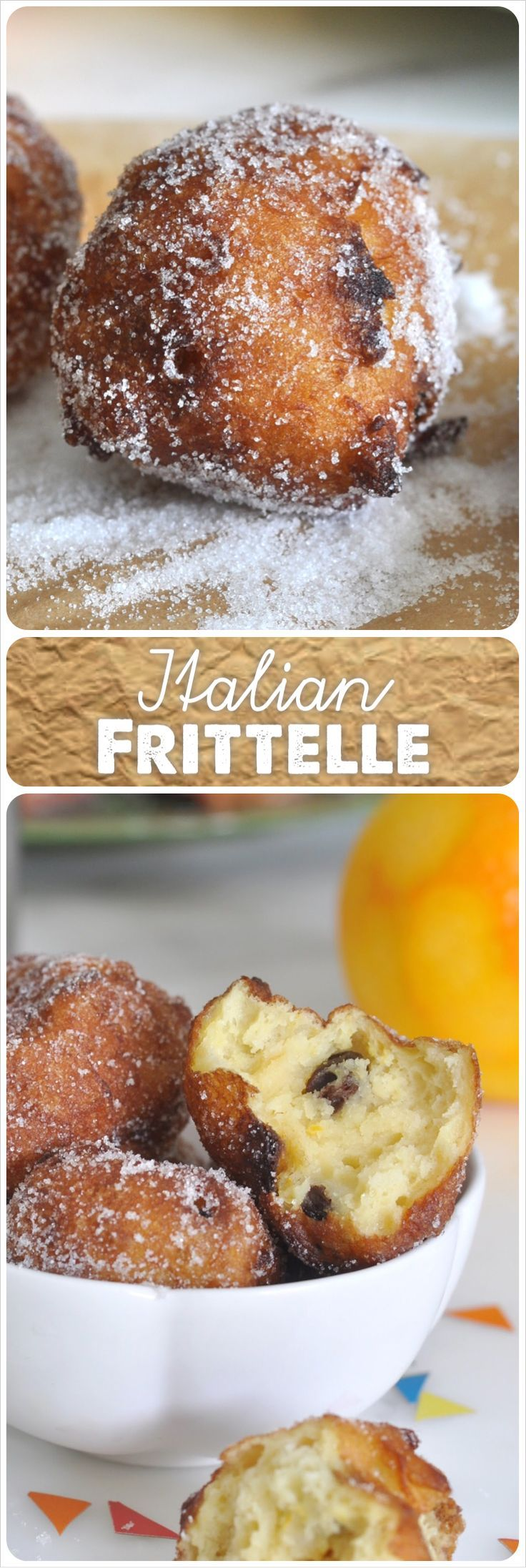 Get ready for this year Carnival celebration with these irresistible soft fried dough bursting with sweet raisins #italian #desserts #bread