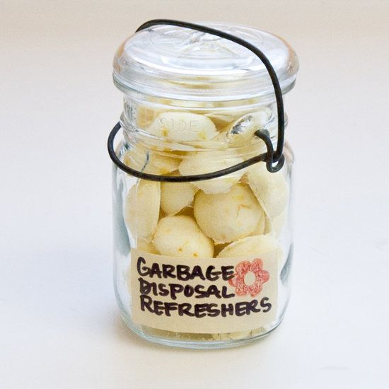 Make your own homemade garbage disposal freshener bombs. Just drop one in your garbage disposal to clean it up and make it smell great!