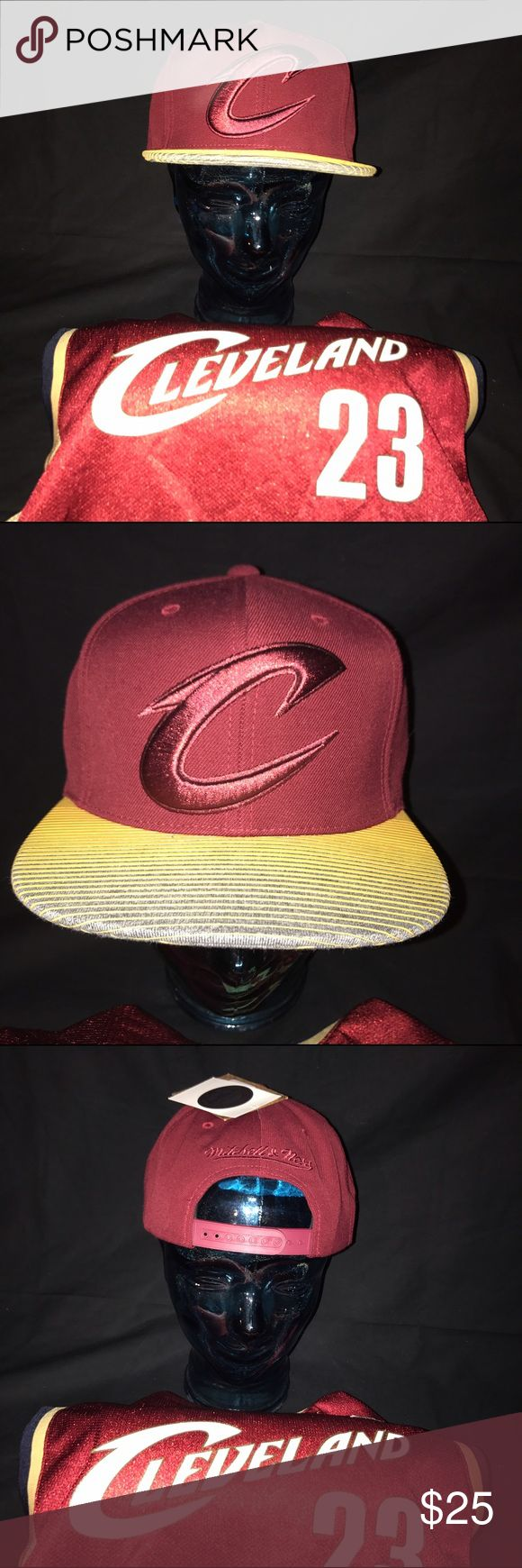 NWT Mitchell and Ness Cleveland Cavaliers SnapBack Brand new, Mitchell and Ness Cleveland Cavaliers SnapBack. MINT condition. Never worn. Retail is $32. Buy any 2 Hats and I will take an extra $6 off the total price. Mitchell & Ness Accessories Hats