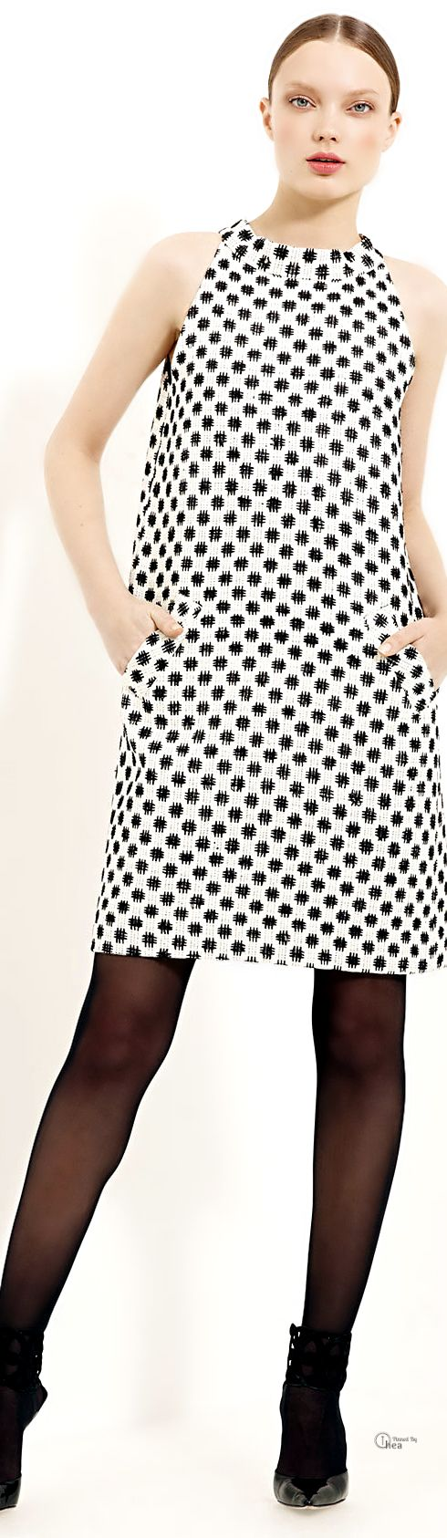Oscar De La Renta ● Trapeze Silk Tweed Dress
