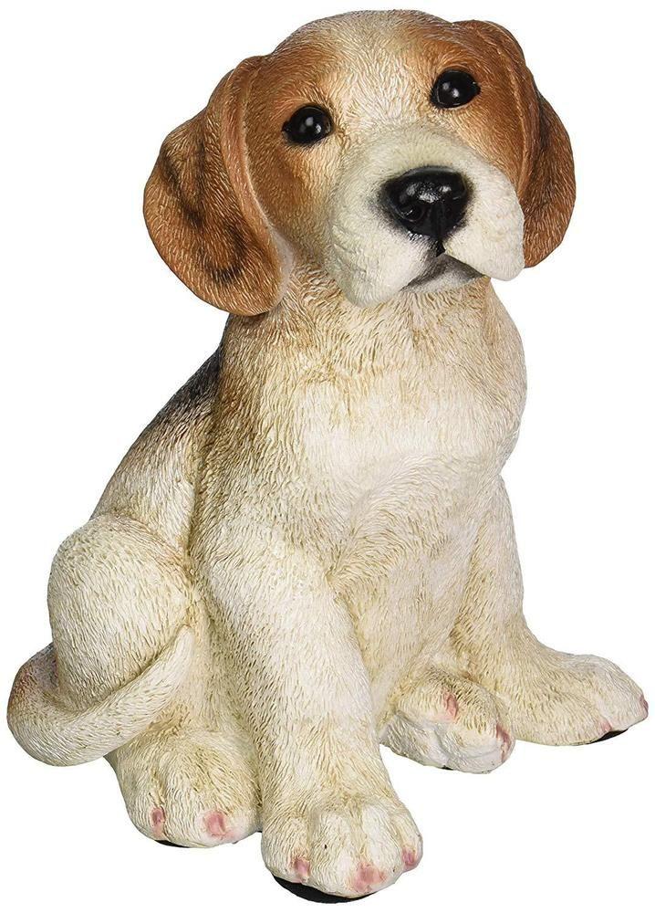 Garden Memorial Rock Pet Dog Standing Beagle Figure Stone Cemetery