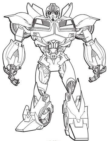 Imagenes De Transformers Para Colorear Bumblebee