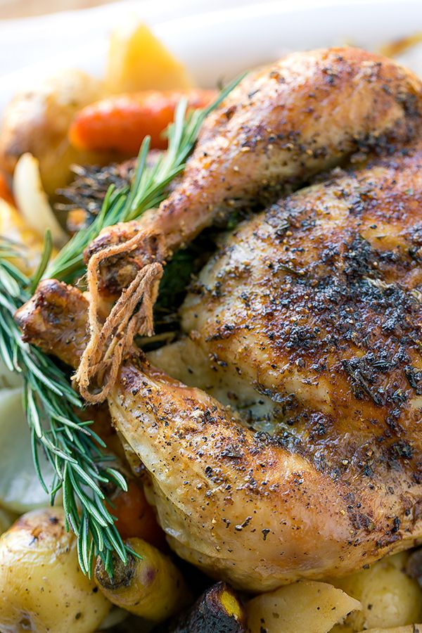 Rosemary-Garlic Roasted Chicken with Autumn Vegetables ...