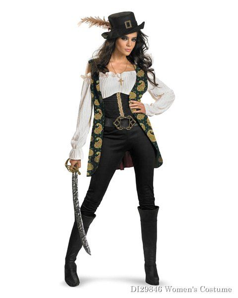 27e32f31367 Deluxe Pirates Of The Caribbean Angelica Womens Costume | milfs in ...