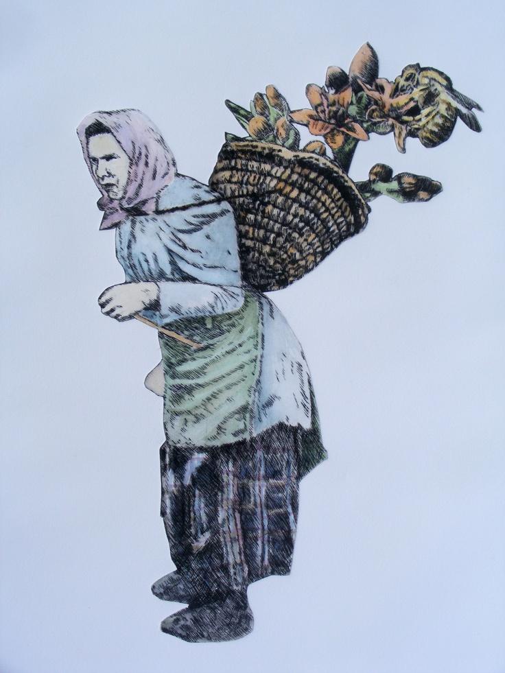 Esther Hansen, My burden is Light, 2012 etching