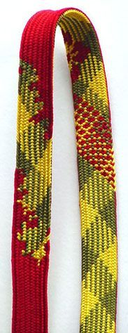 kumihimo : Kumihimo is a Japanese form of braid-making. Cords and ribbons are made by interlacing strands.