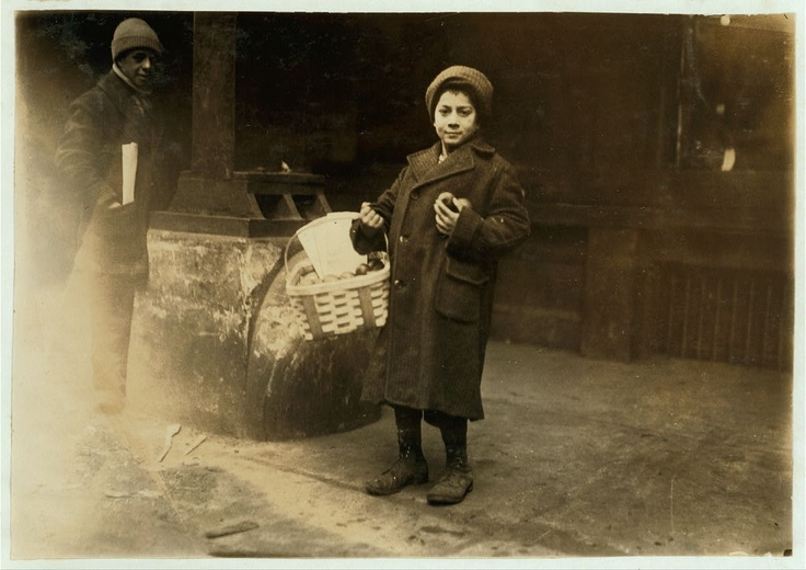 Lemon boy. Market. Location: Boston, Massachusetts photographer  Lewis W. Hine January 27, 1917