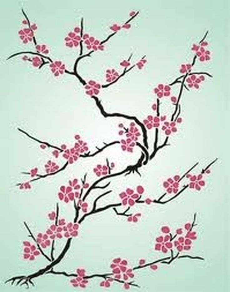 Cherry Blossom Flower Stencil: 20 Best Spring, Easter, Pastel And Cherry Blossoms Images