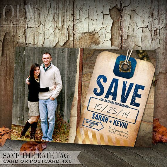 Destination Wedding Save the Date Luggage Tag $18.00