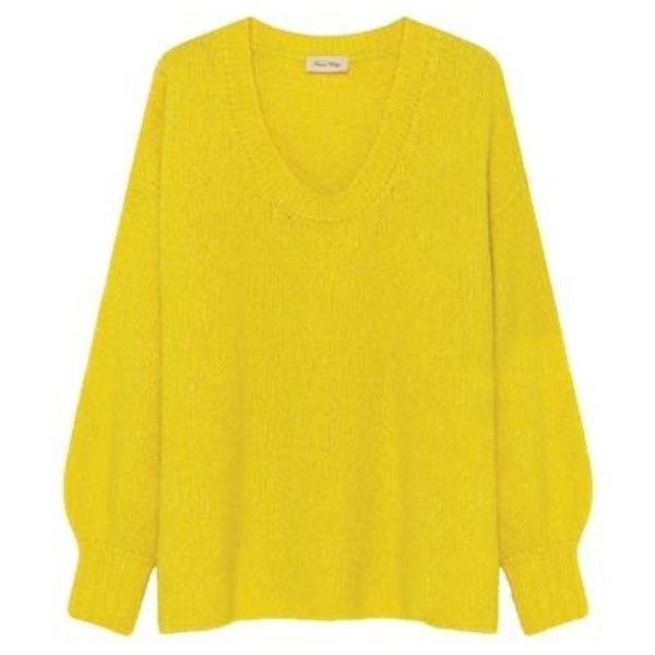 Zapitown Chick Melange Jumper ($180) ❤ liked on Polyvore featuring tops, sweaters, yellow top, oversized tops, jumpers sweaters, yellow jumper and relaxed fit tops