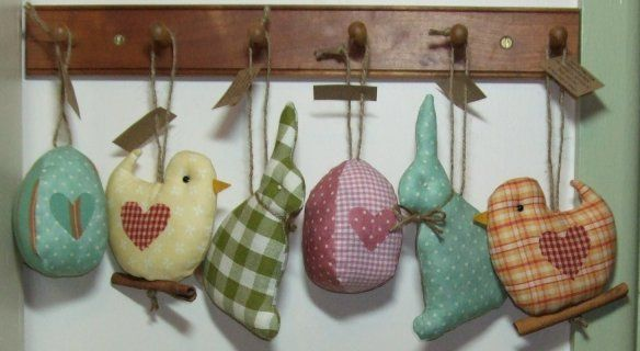 Fabric easter decorations