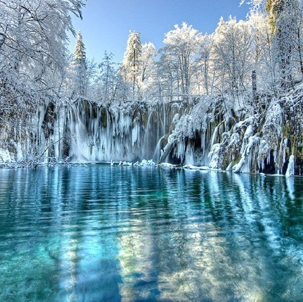 The perfect Kingdom of the Snow Queen....Frozen National Park Plitvice Lakes, Croatia