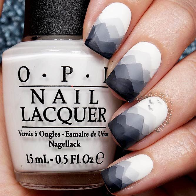 21 Terrific Designs Done with Gel Nail Polish To Try This Season ★ Geometrical Ombre Designs for a Trendy Look Picture 2 ★ See more: http://glaminati.com/gel-nail-polish/ #gelnailpolish #gelnails