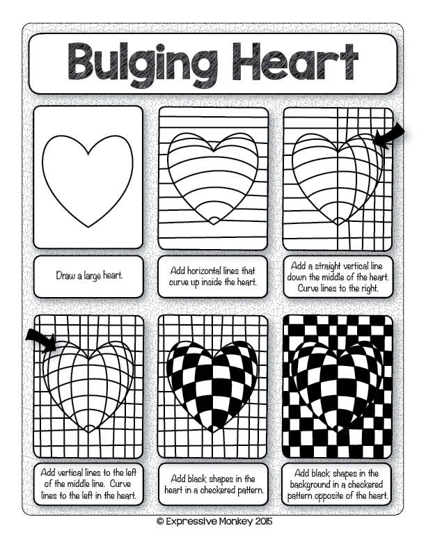 Printables Op Art Worksheet 1000 ideas about op art lessons on pinterest bridget ed central loves this heart with step by for valentines