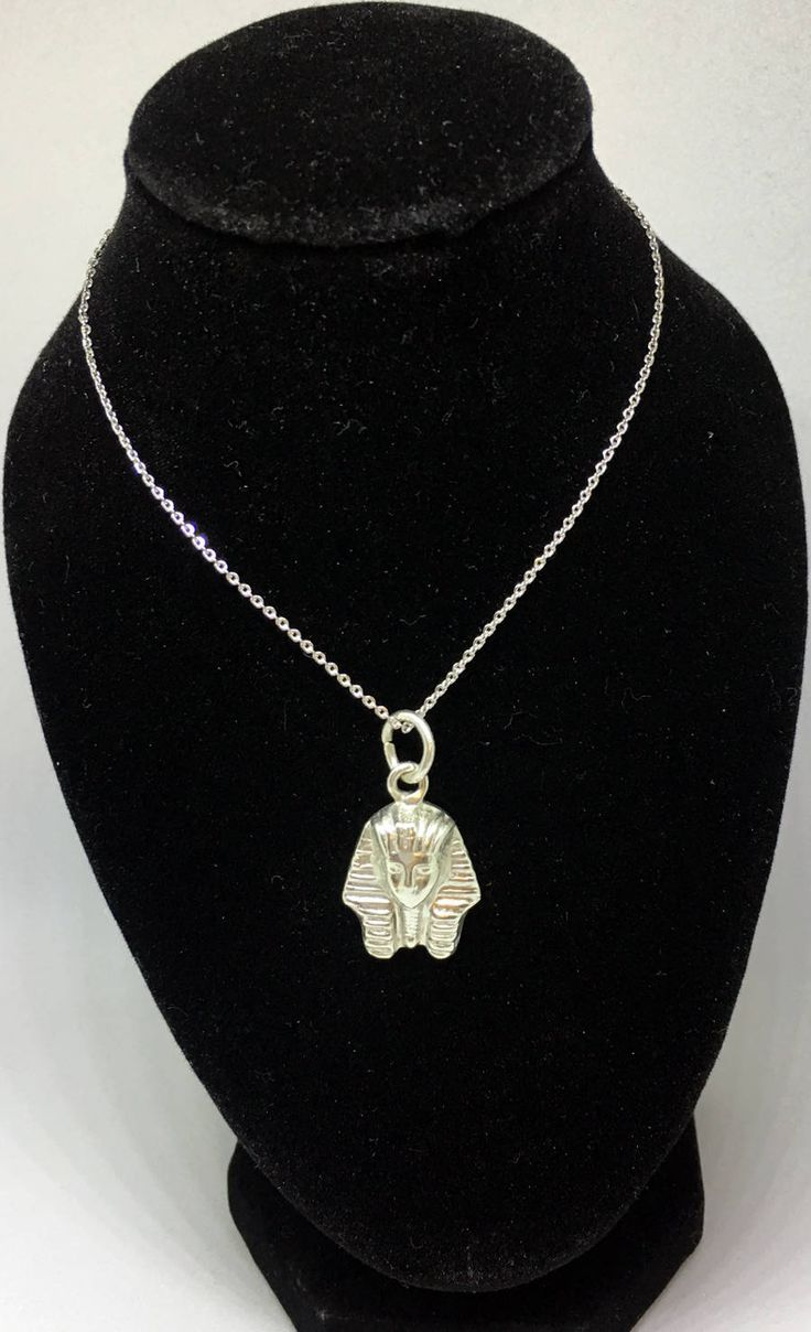 King Tut Ankh Amoun Sterling Silver Charms Necklace , Egyptian Pharaohs, Egyptian Jewelry http://etsy.me/2nHpVhX #jewelry #necklace #silver  #sterlingsilver #kingtutnecklace #egyptianjewelry #kingtut #ankh #pharaohs #egyptianPharaohs