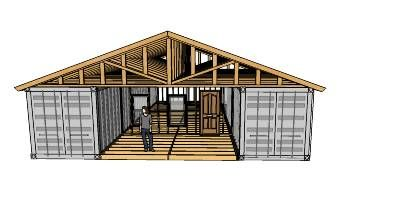 How to build amazing shipping container homes roof for Warehouse house plans