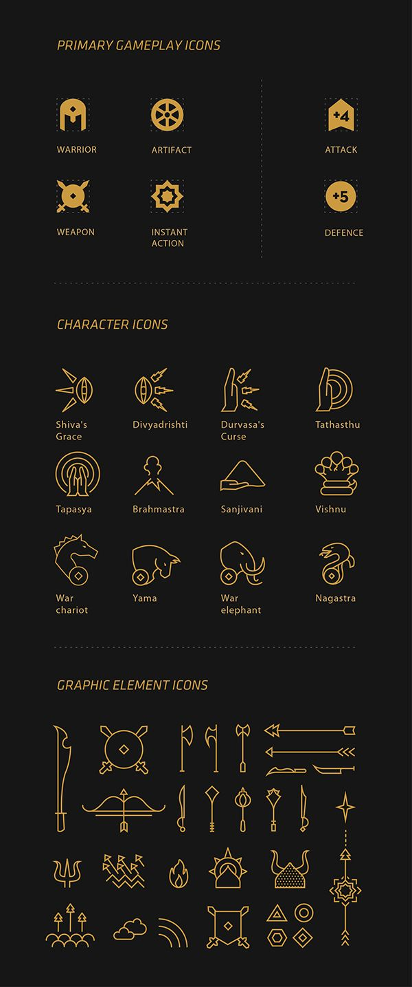 Elegant icon inspiration.