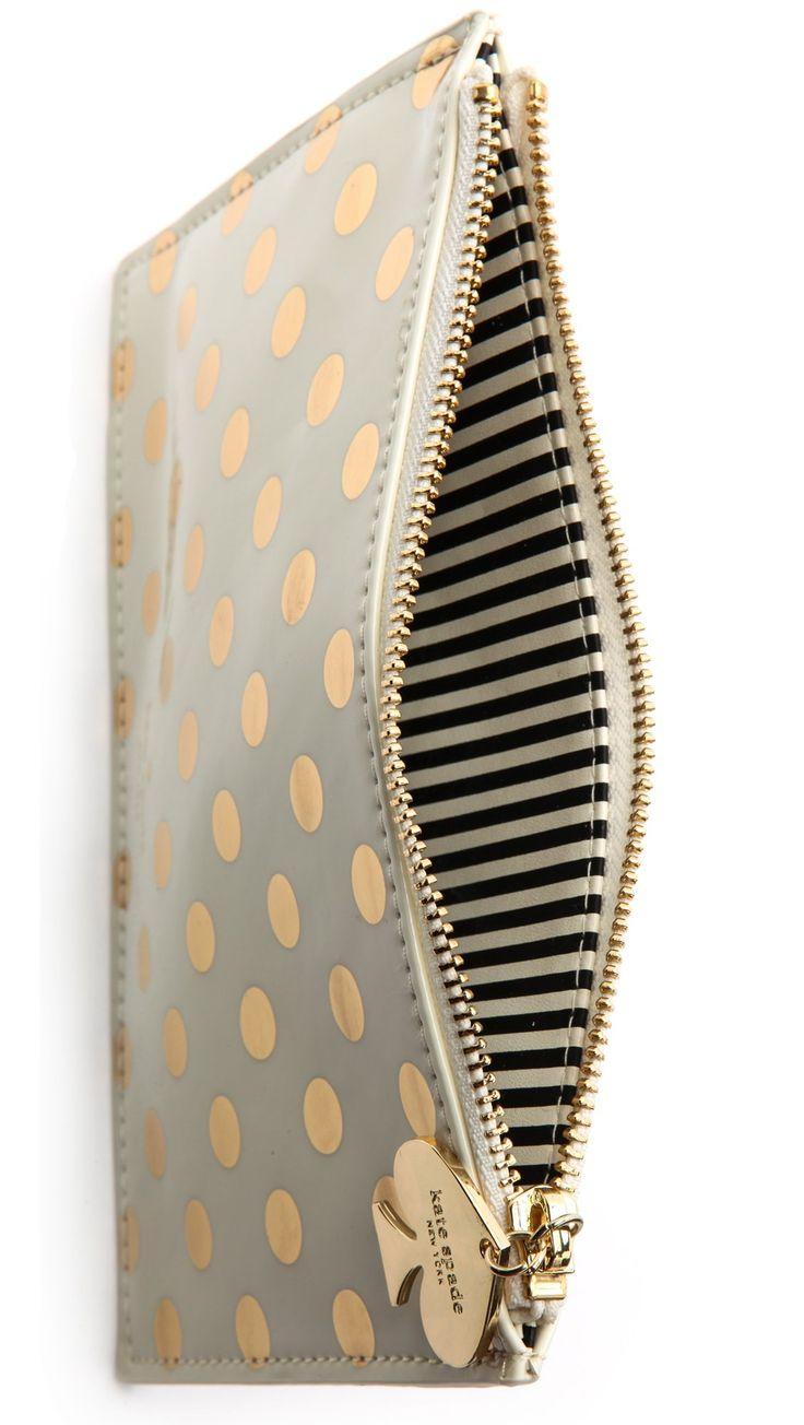 Kate Spade Gold Dots Pencil Case