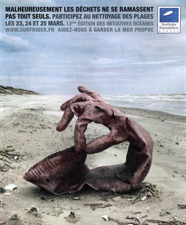 """campagne nettoyage des plages """"les déchets ne vont pas se ramasser tous seuls"""""""