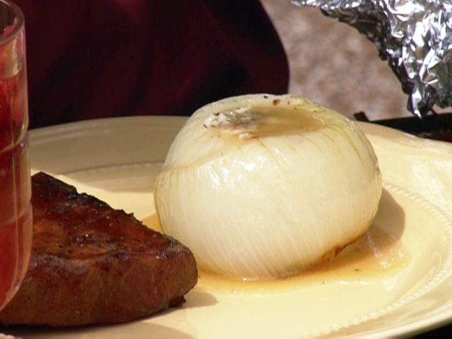 Grilled Vidalia Onions with Bacon Butter Recipe : Patrick and Gina Neely : Food Network - FoodNetwork.com