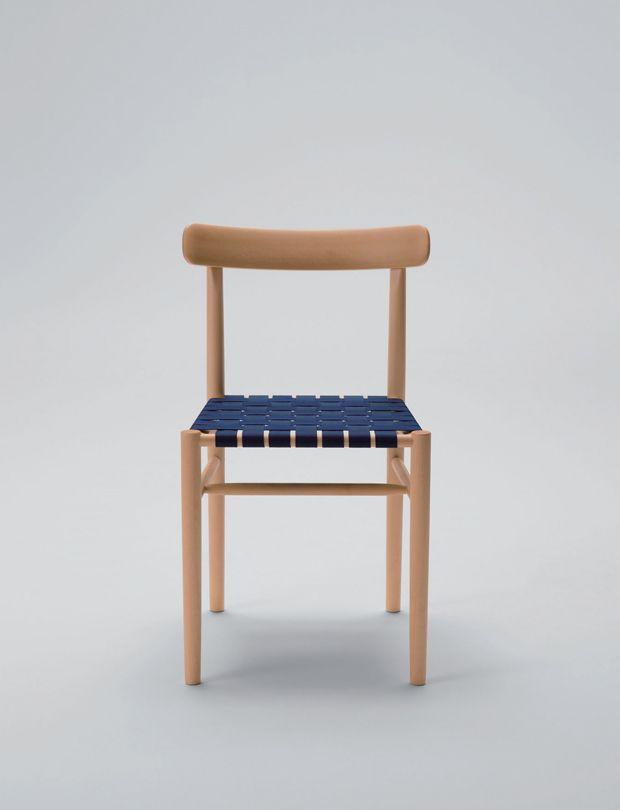chair webbing seat designed by jasper morrison for maruni wood industry inc