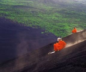 Volcano boarding on the very steep Cerro Negro in Nicaragua - loved it!