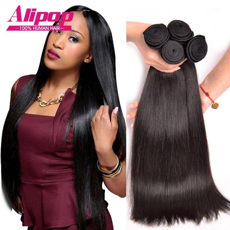 8A Peruvian Virgin Hair Straight 4 Bundles Peruvian Straight Hair Unprocessed Peruvian Straight Virgin Hair Human Hair Bundles