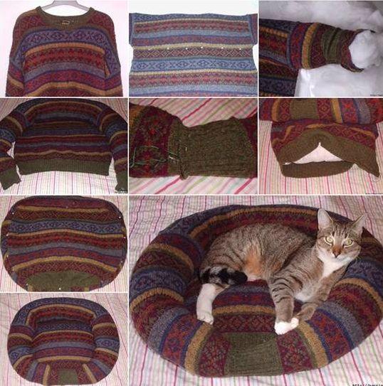 M s de 25 ideas fant sticas sobre juguetes para gatos en - Como hacer una cama de perro ...